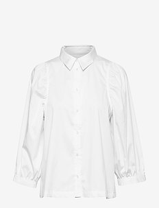 Joanne 3/4 Shirt - long-sleeved shirts - snow white / off white