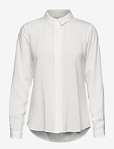Freedom LS Shirt - langærmede skjorter - snow white / off white
