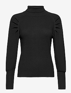 SRMarla LS Rollneck Slim Knit - rollkragenpullover - black