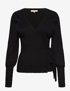 SRMarla LS Wrap Around Knit - cardigans - black