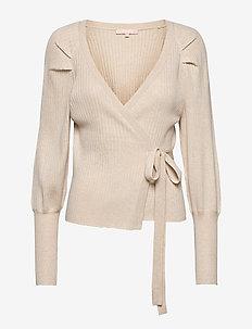 SRMarla LS Wrap Around Knit - cardigans - whitecap gray