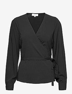 SRBloom Wrap Top - langärmlige blusen - black