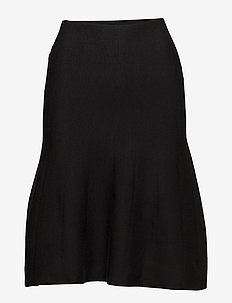 Henrietta Skirt - midinederdele - black