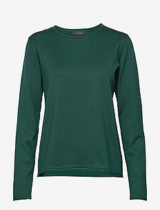 Zara O-neck Knit Roll Edge - jumpers - scarab