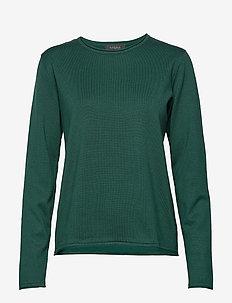 Zara O-neck Knit Roll Edge - truien - scarab