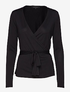 Ella Wrap Blouse - BLACK