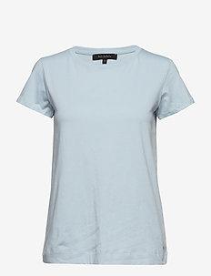 Elle T-shirt - BLUE FOG