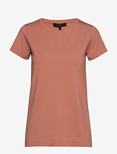 Elle T-shirt - CAMEO BROWN
