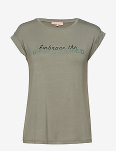 Embrace SS Top - t-shirts med tryk - tea