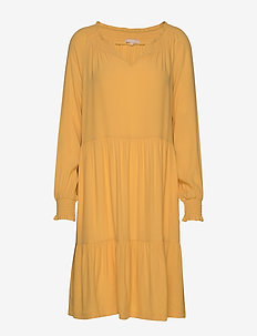 Move LS Dress - midi dresses - ochre