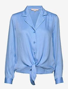 Blaze LS Tie Shirt - long sleeved blouses - little boy blue