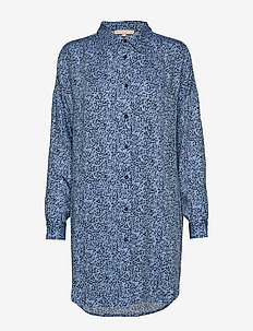 Aviaja LS Long Shirt - robes chemises - aviaja print blue