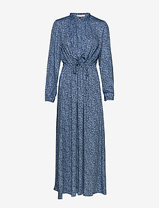 Aviaja LS Ankle Dress - maxi dresses - aviaja print blue