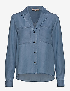 Moira LS Shirt - denimskjorter - dark blue