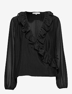 Ava LS Top - blouses med lange mouwen - black