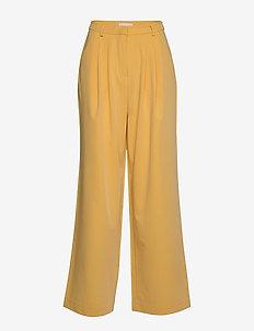 Jamie HW Pleat Pant - wide leg trousers - ochre