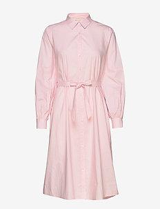 Beatrice Midi Shirt Dress - skjortekjoler - roseate spoonbill