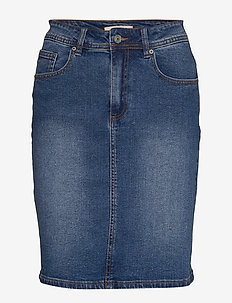 Cyndi Skirt - denimnederdele - everyday mid blue