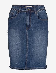 Cyndi Skirt - jupes en jeans - everyday mid blue