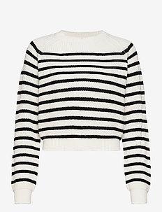 SRTammy LS O-neck Knit - sweaters - black