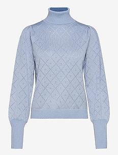 SRLisa Rollneck Knit - rullekraver - zen blue