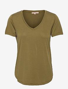 SRElla V-neck T-shirt - t-shirts - olive drab