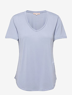 SRElla V-neck T-shirt - t-shirts - zen blue
