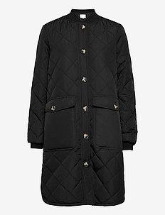 SREileen LS Quilt Coat - quilted jackets - black
