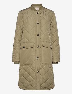 SREileen LS Quilt Coat - padded coats - covert green
