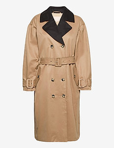 SRAgnes LS Trenchcoat - trenchcoats - white pepper