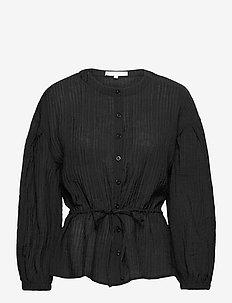 SRPolly LS Shirt - long sleeved blouses - black