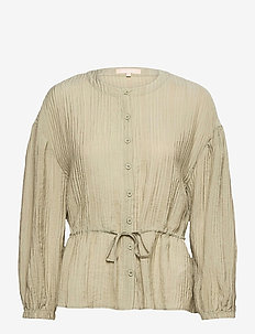 SRPolly LS Shirt - long sleeved blouses - covert green
