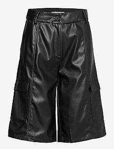 SRAlma Shorts - leather shorts - black