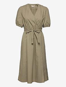 SRFika Wrap Dress - sommerkjoler - covert green