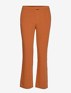 Trissa Kick Flared Pant - wide leg trousers - caramel café