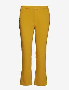 Trissa Kick Flared Pant - wide leg trousers - ceylon yellow