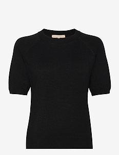 SRMarla SS O-neck Knit - strikkede toppe - black