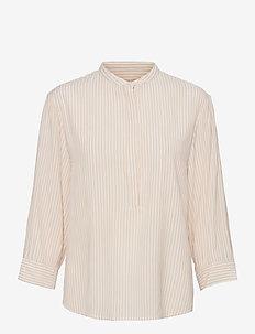Allysia 3/4 Shirt - long-sleeved shirts - white pepper