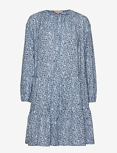 Mets Cotton Dress Printed - METS CASHMERE BLUE PRINT