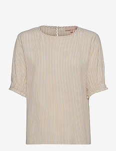 SRAllysia SS Top - short-sleeved blouses - white pepper