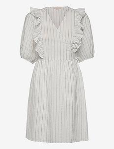 SRVickie Wrap Dress - sommerkjoler - snow white / off white