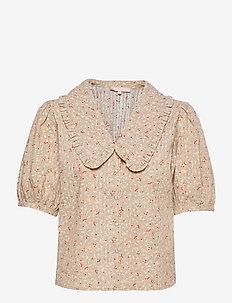 SRDana 2/4 Shirt Printed - short-sleeved blouses - tiny flower pepper