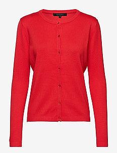 Zara Cardigan O-neck - POPPY RED