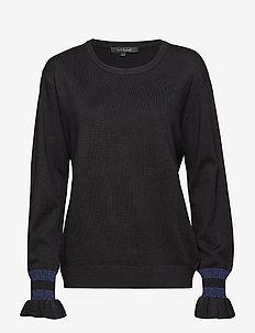 Helle O-neck - truien - 001 black