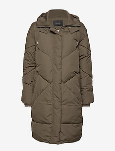 Para Padded coat - dynefrakke - grape leaf