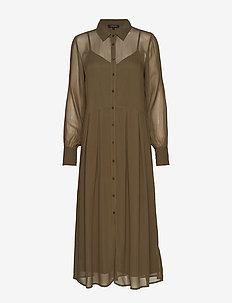 Koon Shirt Dress - robes chemises - grape leaf