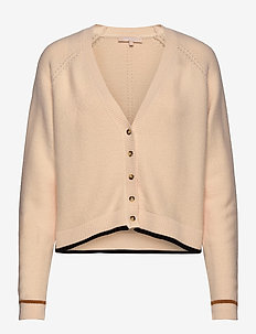 Rasanna V-neck Cardigan Knit - koftor - whitecap gray