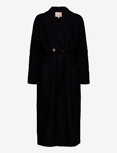 Sala Wrap Coat - ullkappor - black