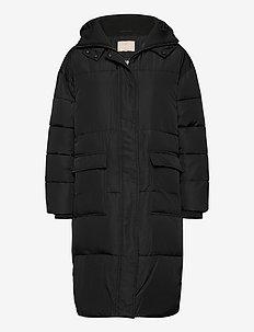 Signe Puffer Coat - wyściełane płaszcze - black