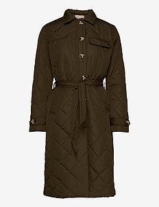 Stinna Quilt Coat - quiltade jackor - dark olive